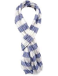 975afb67f62 TigerTie - Echarpe - À rayures - Femme Bleu Bleu blanc Taille unique