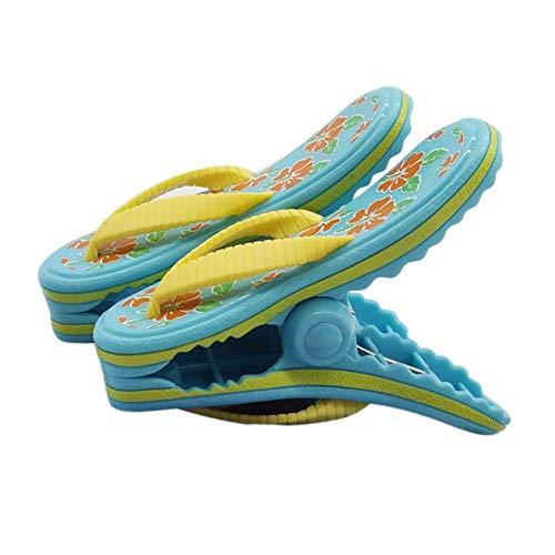 bozitian 2 STÜCKE Badetuch Klammern Flipflop Strandtuch Clips Boca Stil - Zwei Paar Flip Flops - Für Tägliche Wäsche Großes Strandtuch Handtuchclips