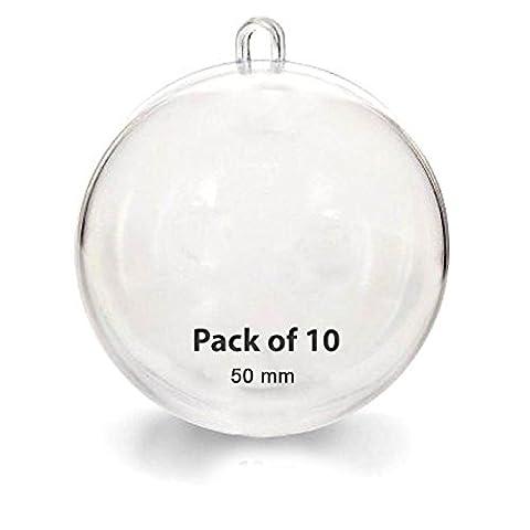 Favoridol 10 PCS Transparent Boules Ornement Fillable de Décoration Noël