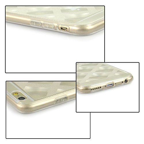 Phone case & Hülle Für iPhone 6 Plus & 6S Plus, Ultra-dünne schimmernde Puder 3D Diamond Pattern TPU Fall ( Color : Transparent ) Transparent