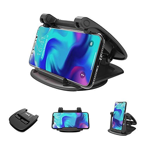 ipow Handyhalterung fürs Auto Armaturenbrett, 360° Sockel-drehbar kfz Handyhalter mit Gel Smartphone Halter kompatibel mit Allen Handys wie Samsung Galaxy, iPhone XS/Xr/8/7/6s plus/se/5s