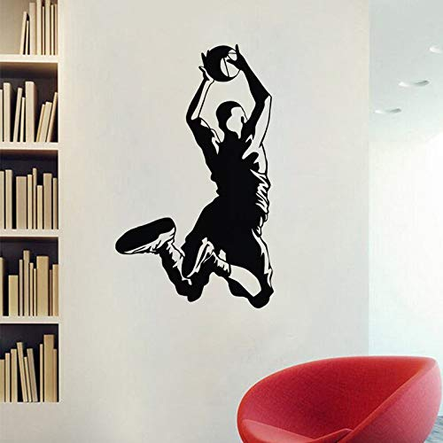 Basketball Dunk pegatinas de pared decoración del hogar los niños dormitorio decoracion de pared de vinilo pegatinas Sport Wall Decals 59x99cm