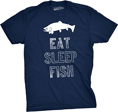 cfee1c5b Crazy Dog Tshirts - Mens Eat Sleep Fish T Shirt - Funny Vintage Fishing  Outdoors Tee