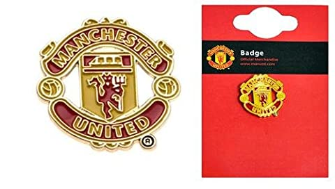 Manchester United Official Merchandise Football Club Sports Accessories, Gifts & Stationary Items. (Crest Pin Badge)