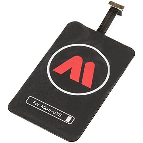 garantía de 5años Micro USB Receptor inalámbrico carga inducción adaptador móvil Samsung  