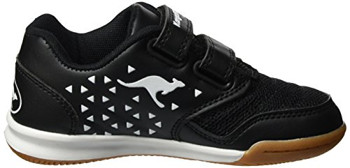 KangaROOS - Vander Court V, Pantofole Unisex – Bambini Nero (Black/White)