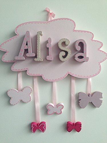 Wolke mit dem Vorname deines Kindes - Türschild Namensschild Buchstaben 3D W01