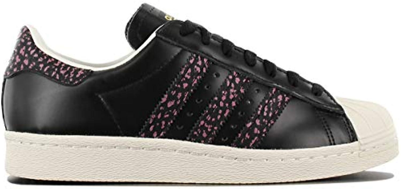 Adidas, Unisex adulto, adulto, adulto, Superstar 80s, Pelle, scarpe da ginnastica, Nero | nuovo venuto  d64bb3