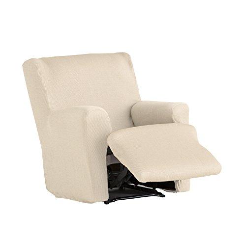 Eysa Ulises - Funda de relax pies juntos elástica para sillón, color crudo