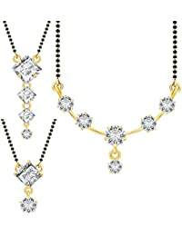 Jewels Galaxy Gold Plated Jewellery Set For Women (White)(CB-MS-890)