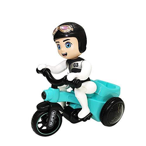 MEILA Stunt Boy Dreirad Kinder Elektro Spielzeug 3-6 Jahre alt Halbbaby 1-2 Kinder Junge Puzzle Geburtstagsgeschenk Familie Eltern-Kind Interaktives Spaßspielzeug -