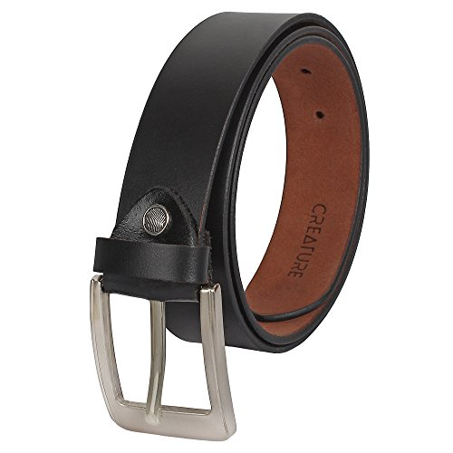 Creature Formal/Casual Black Color Genuine Leather Belts For Men (Lenght- 46 inches || BL-020)