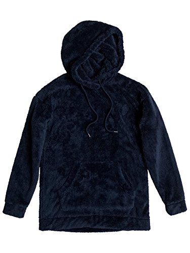 Roxy Damen Changing Tides-Fluffy Fleece Hoodie Dress Blues