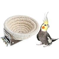 Keersi - Cama nido de algodón hecha a mano para periquitos, loros y pájaros,