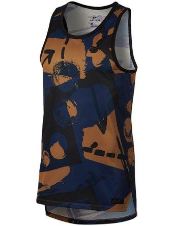 faf7bfbe8d4a7 Nike KD M NK Tank HYPERELITE - Camiseta de Tirantes, Hombre, Azul(Midnight  Navy/Black/White)