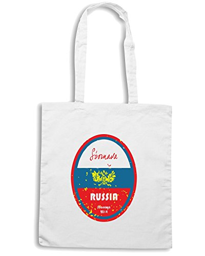 T-Shirtshock - Borsa Shopping WC0668 World Cup Football - Russia Bianco