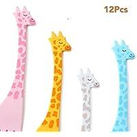 panlom® 12pcs animal niño fruta tenedor Creative plástico fácil decoración Cute Fruit dimsum pica + caja de Box (color al azar)