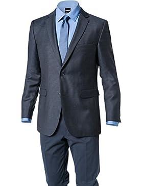 Strellson Premium Herren Sakko Rich Schurwolle Super 100 Anzugjacke Mit Punkten, Größe: 98, Farbe: Blau