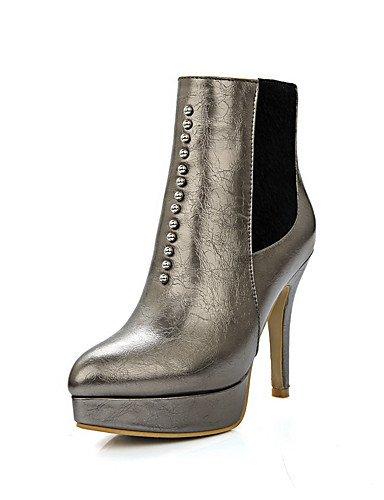 CU@EY Da donna-Stivaletti-Formale / Casual-Comoda / Stivali-A stiletto-PU (Poliuretano)-Nero / Rosso / Bianco / Dorato golden-us11 / eu43 / uk9 / cn44