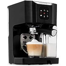 Klarstein BellaVita Máquina de café • 3 en 1 para espresso, capuccino y latte macchiato • 0,4 l espumadora de leche • 1450 W • 20 bares • Depósito de 1,4 ...