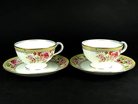 Cup and Saucer Set (2) - Noritake Hertford Pair with