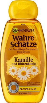 Garnier Wahre Schätze Shampoo Kamille mit Blütenhonig, 250 ml (1er Pack)