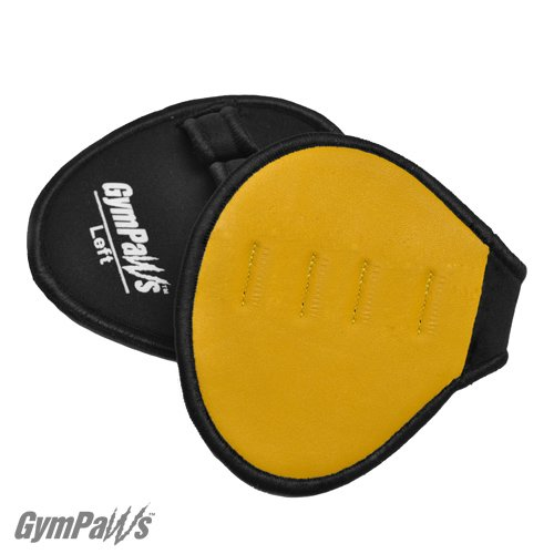Gym-Gloves-For-Sweaty-Hands-Genuine-Leather-Weightlifting-Grips-Yellow