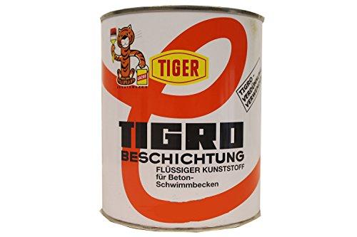 Tiger Tigro Beschichtung flüssiger Kunststoff für Beton-Schwimmbecken Seidenmatt Farbwahl 3 L, Farbe:rivierablau