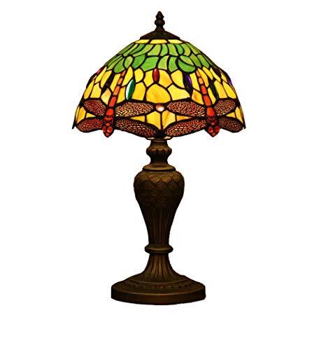 Tiffany Style Schreibtischlampe/Leselampe, 12 Zoll Euro Creativey/Glas Dekorative Schreibtischlampe mit Zinklegierungssockel, Nachttischlampe, Leselampe, E27, BOSS LV -
