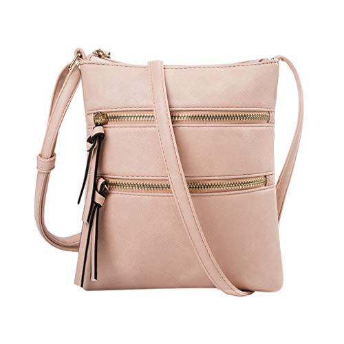 Handy Schultertasche für Damen/Skxinn Mädchen Sportliche Handtasche Umhängetasche Schultertasche aus PU-Leder für Frauen, Wandern, Reisen,Party,Ausverkauf(Rosa) -