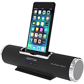 azatom streetdance 2 docking station speaker with 8pin lightning for iphone 8 8plus 7 7plus 6s 6plus 5s 5c 5 se ipod touch 567 unique design