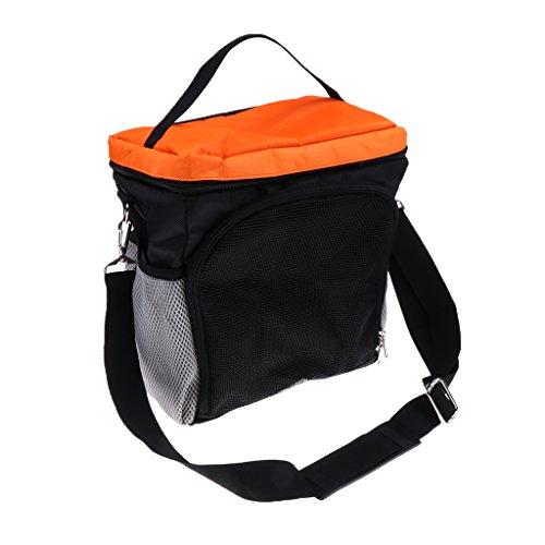MagiDeal Unisex Oxford-Gewebe Sporttasche Schultertasche Umhängetasche für Basketball Fußball Volleyball - Orange
