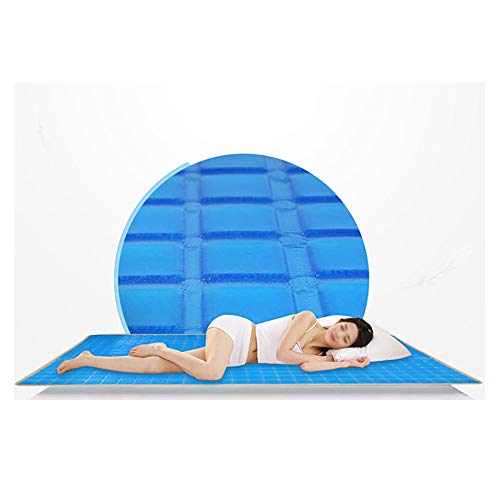 JUZZQ Cooling Gel Pad Matratze, orthopädische Matratze, atmungsaktive 3D-Massage, wasserdicht, hypoallergen, gesundheitlich unbedenklich, schmerzstillend, wärmeempfindlich,120 * 180CM (Memory-foam-kingsize-kissen)