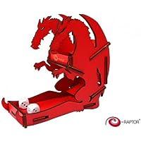 """e-Raptor era19041""""dados Torres pequeño dados Torre dragón"""" Juego de mesa, rojo"""