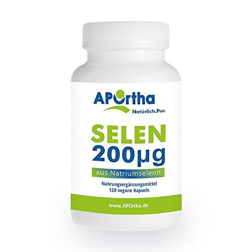 APOrtha Selen Kapseln | 200 µg aus Natriumselenit | 120 vegane Kapseln | allergenfrei
