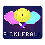 Mouse Pad Rackets Paddles and Ball for Pickleball Game in Modern Mousepad