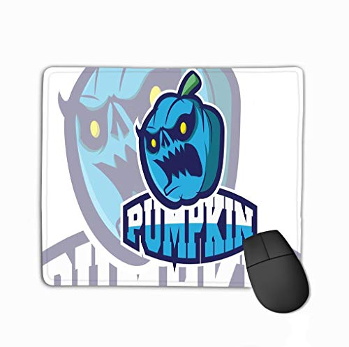 Gaming Mouse Pad Custom, Personality Desings Gaming Mouse Pad 11.81 X 9.84 Inch Logo Games Inspirations Pumpkin Badge Design Template Sport Team Identity Logotype Inspiration Easy