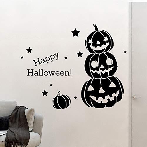ljradj Halloween Dekoration Zubehör Kinderzimmer Dekor Wandkunst AufkleberL 43cm X 53cm