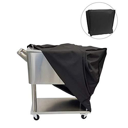 Dreameryoly Large Barbecue Cover, Kit de Cubierta de Parrilla,Cubierta para Barbacoa, Impermeable de Tela Oxford, a Prueba de rasgaduras y UV, Negro 92x50x80 cm