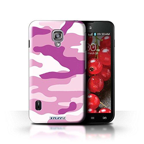 Kobalt® Imprimé Etui / Coque pour LG Optimus L7 II Dual / Marron 4 conception / Série Armée/Camouflage Rose 2