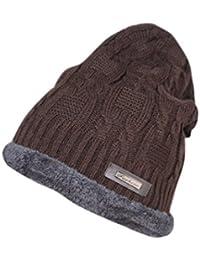 b692364772c Krystle Boys and Girls Woollen Cotton Warm Winter Hat Knit Cap with Inside  Fur Beanie (