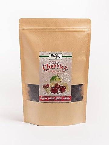 Biojoy Cerises griottes séchées 100% cerises griottes séchées sans noyaux, sans sucre, additifs, SO2 (1 kg)