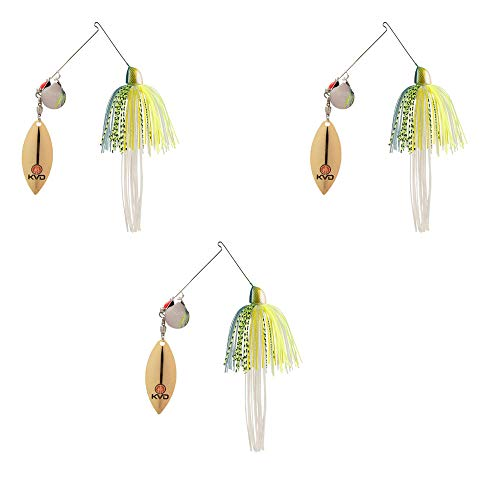 Strike King Finesse KVD Spinnerbait, Chartreuse Sexy Shad, 3er Pack -