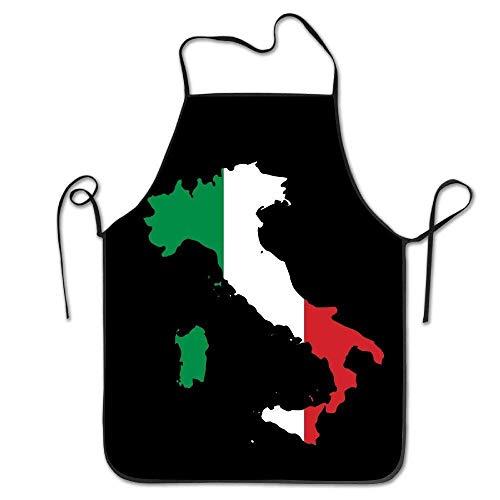 Gorgeous practical goods Magnifique Pratique Marchandises Italia Italie Italien Carte Humoristique Tablier de Cuisine Barbecue Cuisson Griller Tablier Noir