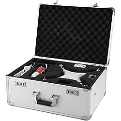 Drone Max ABS Llevar Carcasa DJI phantom 2, vision+, phantom 3 estándar y phantom 3 profesional (plata)