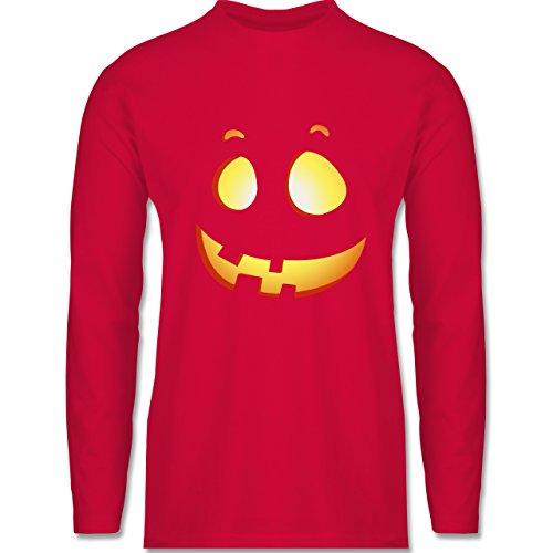 Shirtracer Halloween - Süßer Halloween-Kuerbis Kinder - Herren Langarmshirt Rot