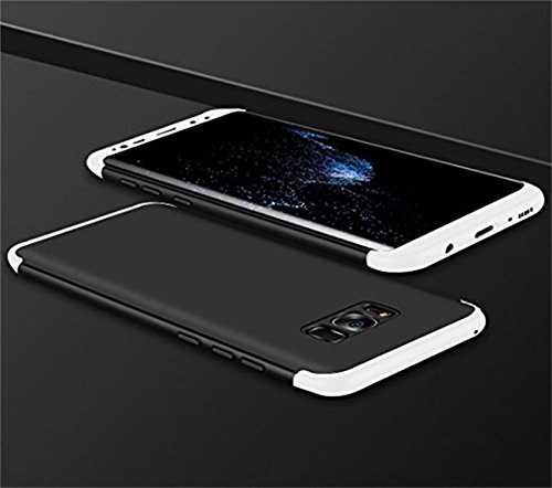 Coque Samung Galaxy S8Plus étui ,Qissy® 3 en 1 Bumper Tout inclus Ultra Mince Spécialement Design 360 PC protective Hard case Cover Pour Galaxy S8+ 6.2 pouces Smartphone Noir+Argent