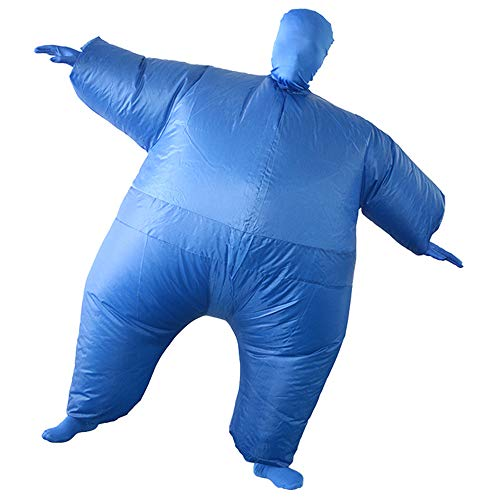first123 Aufblasbare Ganzkörperanzug Kostüm Erwachsene Deluxe Lustige Cosplay Blow up Cos Party Spielzeug Geschenk für Halloween (Schwarz Aufblasbare Lustige Kostüm)