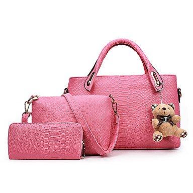 La donna pu formale / Casual / evento/parte / Ufficio & Carriera Tote,Nero Blushing Pink
