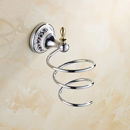 Ludsuy accessori per il bagno cromato lucido porcellana asciugacapelli scaffale da parete del colpo dei capelli scaffale holder dryer bagno